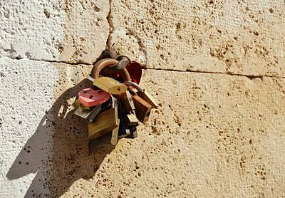 Photograph - Lungotevere Love Locks by JAMART Photography