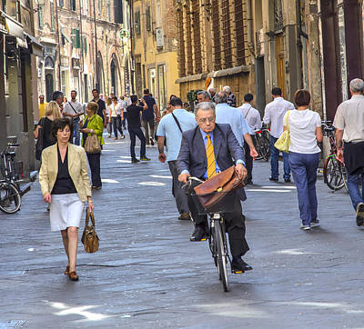 Photograph - L'uomo In Bicicletta. by Keith Armstrong