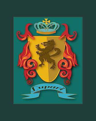 Painting - Lupari Family Crest by Thomas Lupari