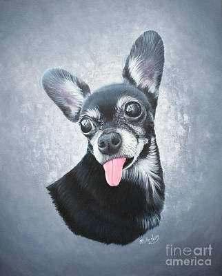 Art Print featuring the painting Lupe by Mike Ivey