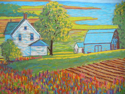 Lupens On P.e.i Art Print by Rae  Smith