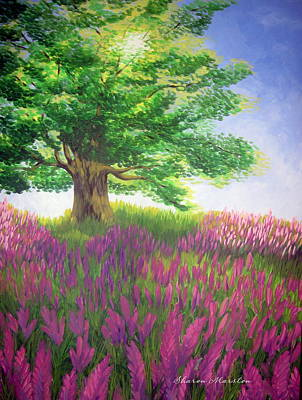 Lupine Afternoon Print by Sharon Marcella Marston