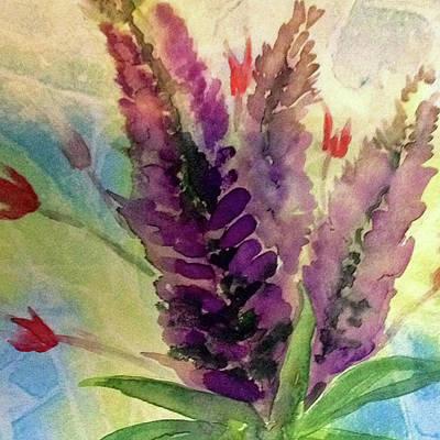Painting - Lupine Flower by Cynthia Matthews