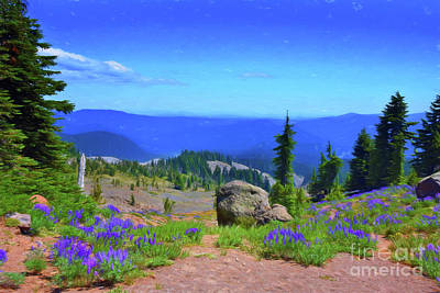 Photograph - Lupine Flowers At Mt Hood by Scott Cameron