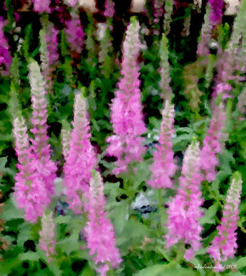 Floral Digital Art Digital Art Digital Art - Lupine Impression by Michelle  BarlondSmith