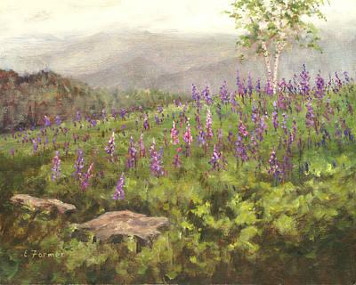 Lupine In Fog, Sugar Hill, Nh Original