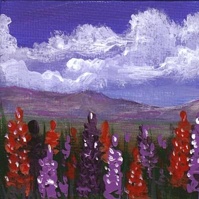 Painting - Lupine Land #3 by Anastasiya Malakhova