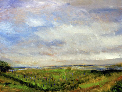 Painting - Lupine Return To Fort Hill by Michael Helfen