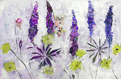 Digital Art - Lupine Spring Painting by Lisa Kaiser