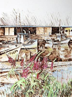 Painting - Lupines At Murray Harbour by Richard Jules