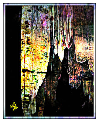 Cavern Digital Art - Luray Cavern Abstract 2 by Lynda Payton