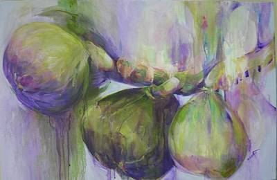 Drippy Painting - Luscious Figs by Paula Acosta