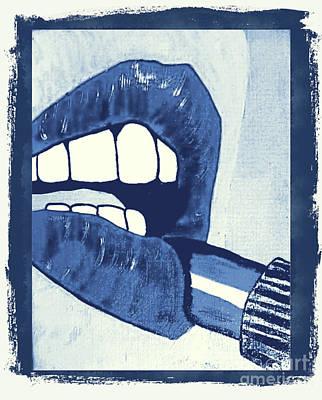 Swallow Mixed Media - Luscious Lips Sink Ships by Scott D Van Osdol