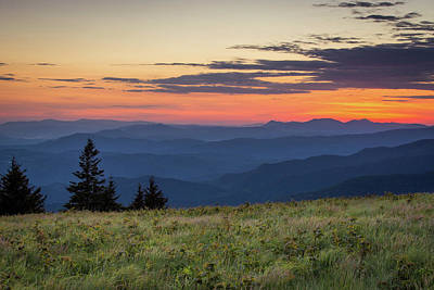 Photograph - Lush Blue Ridge Mountain Sun Rise by Serge Skiba