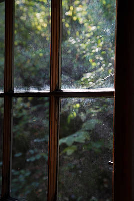 Cabin Window Photograph - Lush Cabin View by MaJoR Images