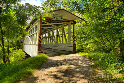Photograph - Lush Green At The Diehls Covered Bridge by Adam Jewell