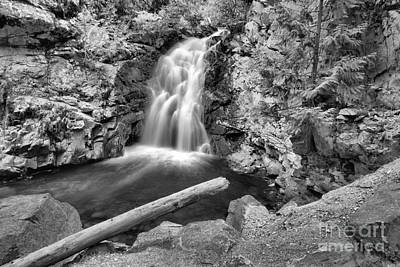 Photograph - Lush Green Falls Creek Falls Black And White by Adam Jewell