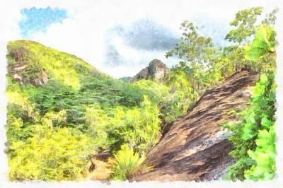 Lush Greenery On A Hill Art Print
