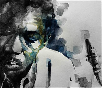 Jazz Legends Wall Art - Painting - Lush Life  John Coltrane  by Paul Lovering