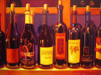 Wine Reflection Art Painting - Lush by Penelope Moore