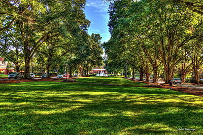Pittsburgh According To Ron Magnes - Greenville SC Lush Shadows Furman University Main Campus Landscape Art by Reid Callaway