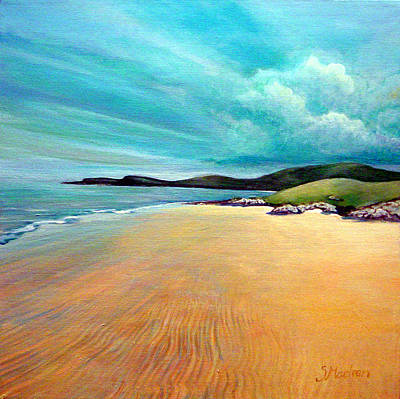 Scotland Painting - Luskentyre 1 by Stephanie  Maclean