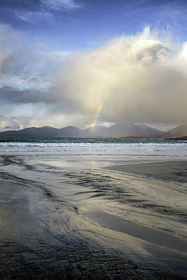 Photograph - Luskentyre Bay With Rainbow by Nancy Lisa Phillips