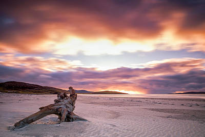 Photograph - Luskentyre Beach On Harris At Sunset by Neil Alexander
