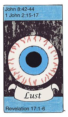 Revelation Drawing - Lust by Chayla Dion Amundsen-Noland
