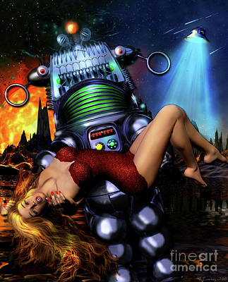 Blonde Digital Art - Lust In Space by Shanina Conway