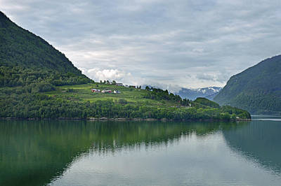 Photograph - Lustrafjorden. by Terence Davis