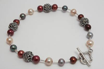 Sterling Silver Bracelet Jewelry - Lustrous Pearl by Jerri Nielsen