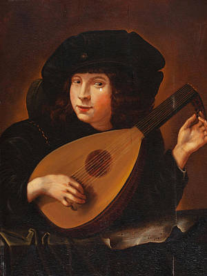 Dance Painting - Lute Player by Celestial Images