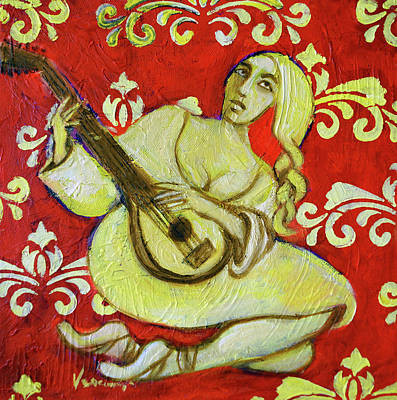 Lute With Patterns Original by Valerie Vescovi