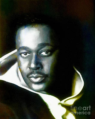 Painting - Luther Vandross - Singer  by Ian Gledhill