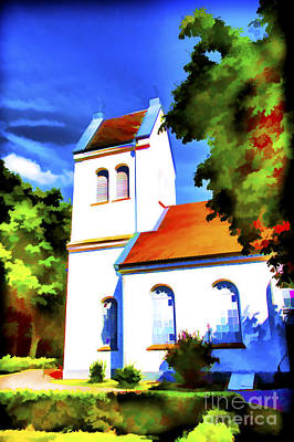 Photograph - Lutheran Church Painting by Rick Bragan