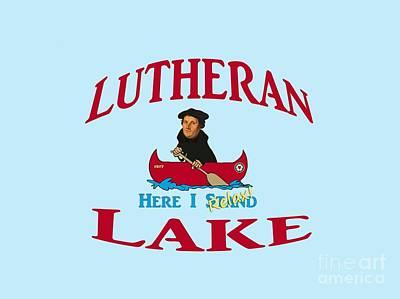 Augustana Digital Art - Lutheran Lake Here I Relax by Jost Houk