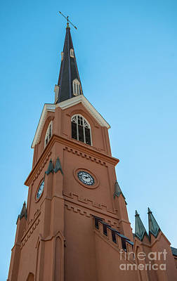 Photograph - Lutheran Steeple by Dale Powell