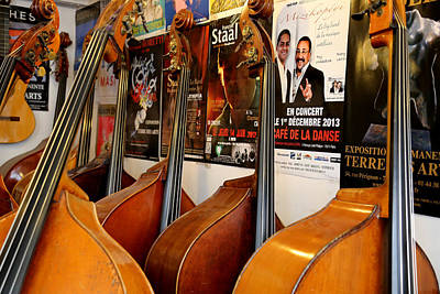 Upright Bass Photograph - Luthier 2 by Andrew Fare
