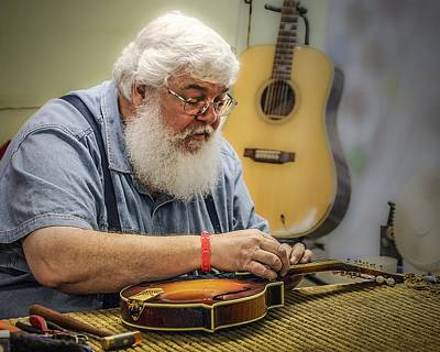 Photograph - Luthier by Jim Mathis