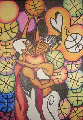 Luv N B'ball Art Print by Chibuzor Ejims
