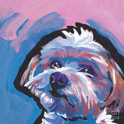 Yorkie Painting - Luv You Mor by Lea S