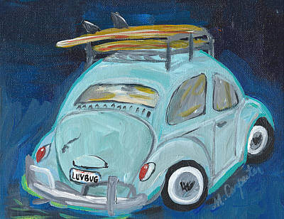 Painting - Luvbug by Mindy Carpenter