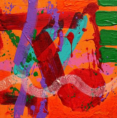 Contemporary Abstract Fruit Painting - Lux  Iv  by John  Nolan