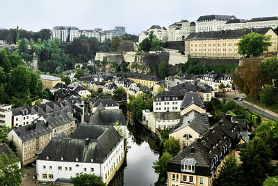 Photograph - Luxembourg City From Above by Kay Brewer