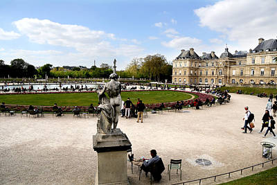 Photograph - Luxembourg Gardens 5 by Andrew Fare