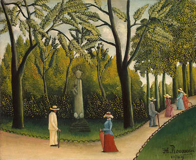 Luxembourg Painting - Luxembourg Gardens - Monument To Chopin by Mountain Dreams