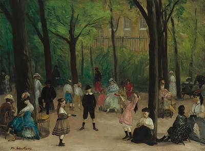 Luxembourg Painting - Luxembourg Gardens by Mountain Dreams