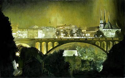 Painting - Luxembourg by Michael Frank