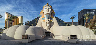 Photograph - Luxor Casino Egyptian Pharaoh Las Vegas Wide Cloudy by Aloha Art